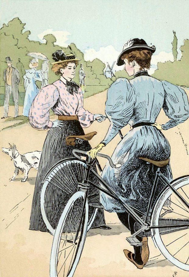 Visszataszító látvány: hölgyek kerékpárral