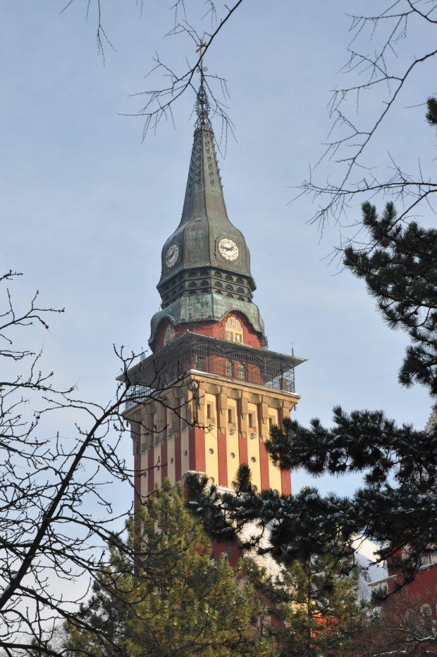 A szabadkai városháza tornya. Botrányoktól hangos a Délvidék. Fotó: vk