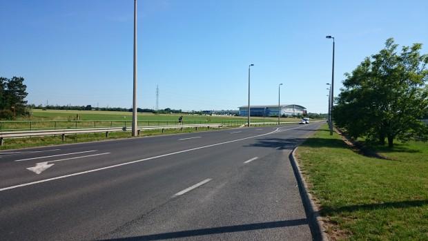 Veszprémben az  Aréna melletti szabad rész lehet inkább a befutó. Fotó: vk