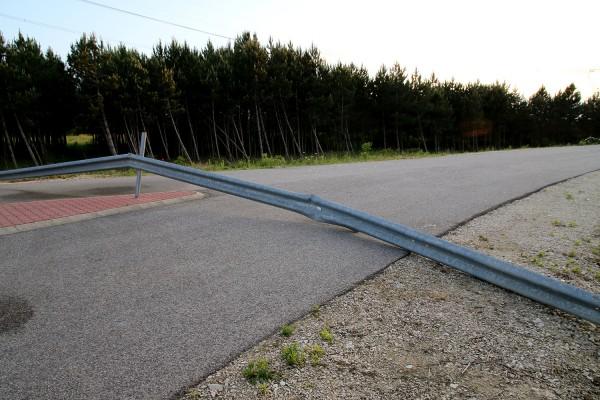A litéri csomópontnál egyelőre a semmibe vezet az út. Fotó: vk