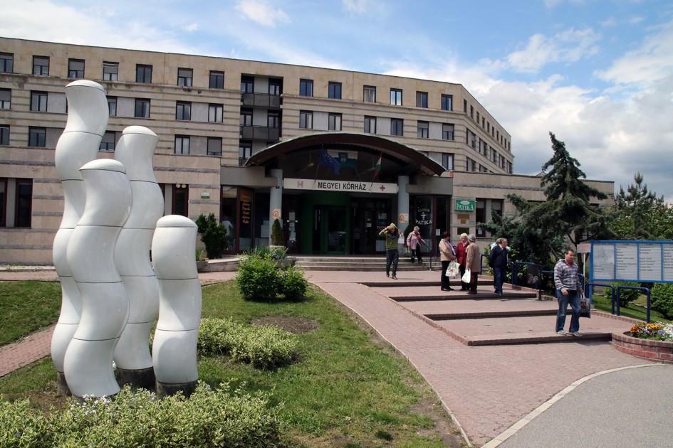 A Veszprém Megyei Csolnoky Ferenc Kórház. Leginkább az ápolószemélyzet hiányzik. Fotó: vk