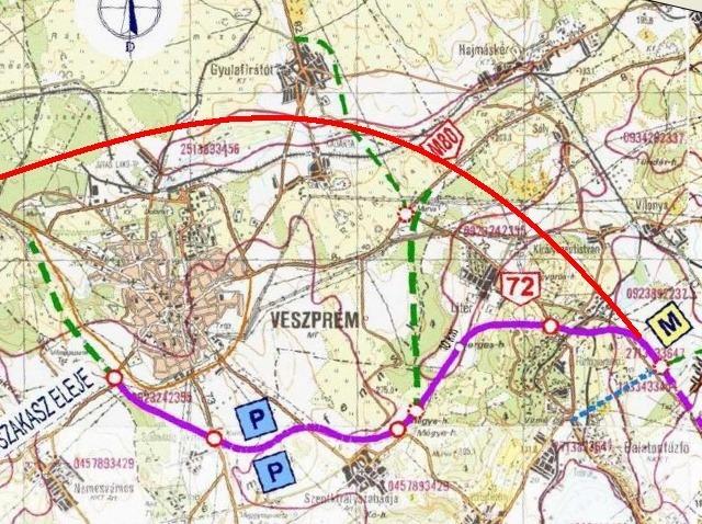 várpalota elkerülő út térkép Kerülő utakon? – kétszer kettő, néhol kétszer egy sáv   Veszprém Kukac