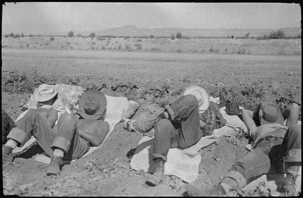 California.__Farm_workers'_siesta._