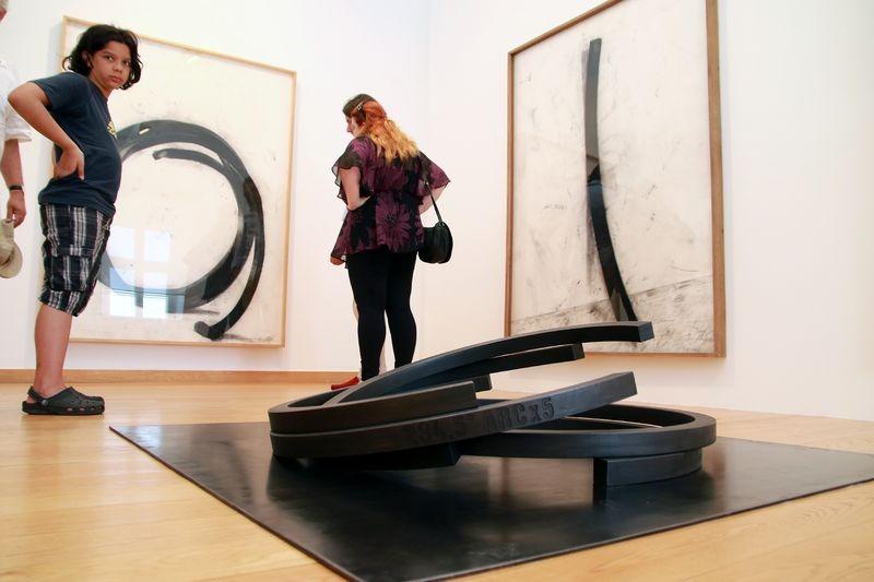 A világhírű művész kisebb méretű szobraiból, makettjeiből, illetve rajzaiból kínál válogatást a kiállítás. Fotók: Nagy Lajos