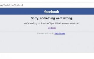 Rövid időre összeomlott a Facebook