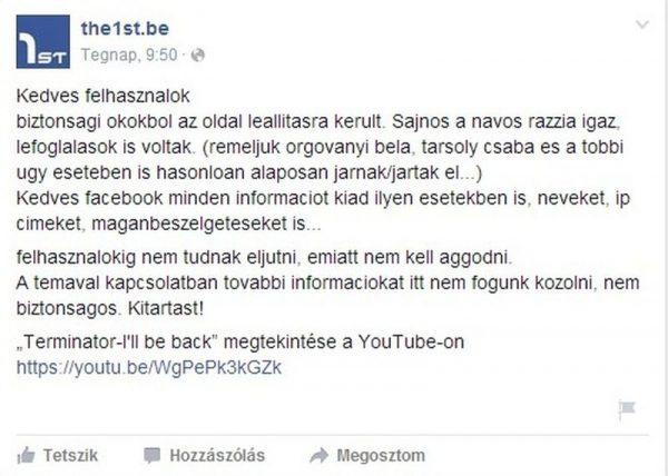 Az akcióról az oldal üzemeltetői a Facebook-profiljukon számoltak be