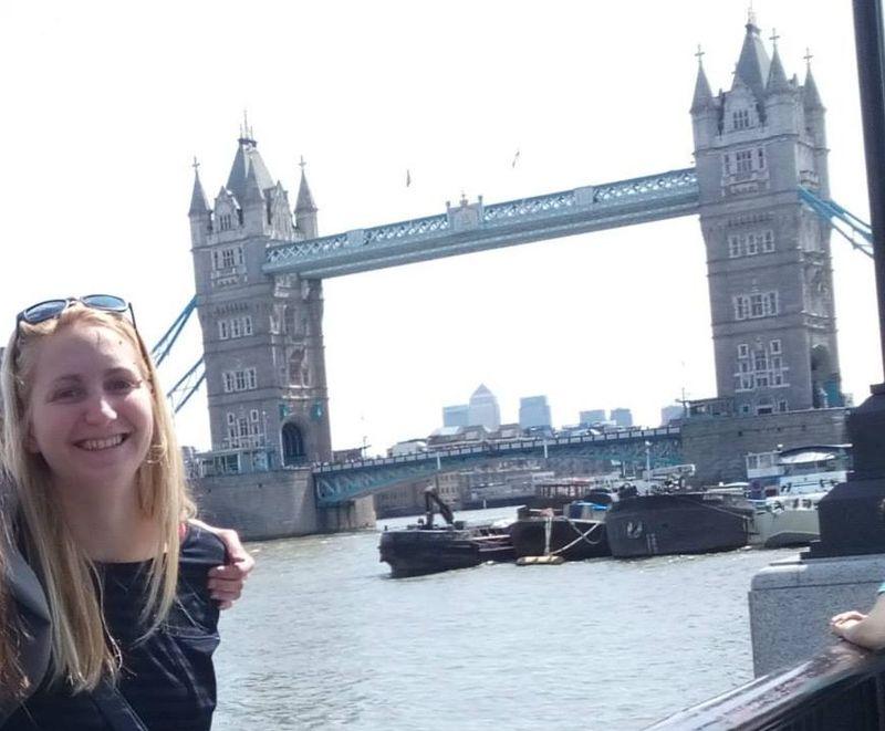 Dudás Réka jelenleg Angliában tanul
