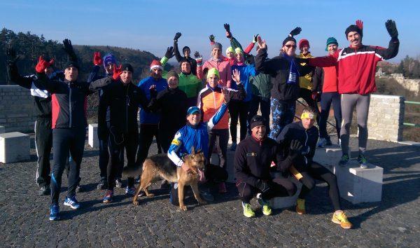 A Bakony Alpin és Futóklub tagjai tíz kilométeres futással búcsúztak az óévtől