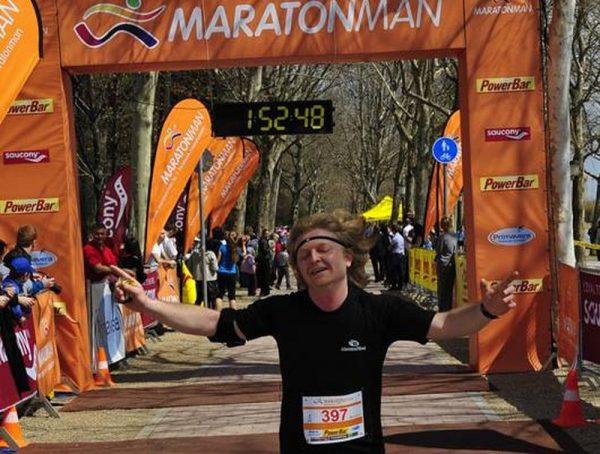 Sümegi Elemér a 2013-as balatonfüredi Maratonman tavaszi futamon