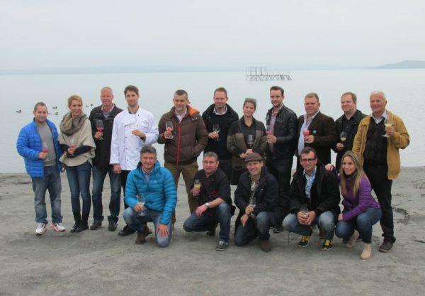 Az őszi-téli gasztrotérkép csopaki bemutatójának résztvevői. Prémium kategóriás szolgáltatók