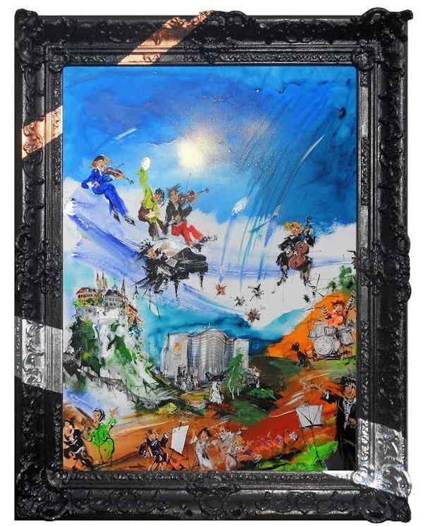 Az árverésre felajánlott festmény
