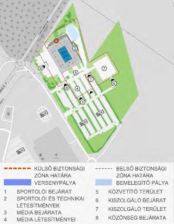A veszprémi tervezett helyszín, az aréna. Forrás: Olimpia 2024 Budapest helyszín-kiválasztási javaslat