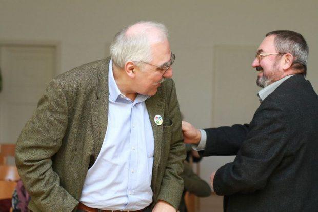 A rendezvényen számos közéleti személyiség és politikus is megjelent, a képen Bokros Lajos korábbi pénzügyminiszter, a Modern Magyarország Mozgalom elnöke és Debreczenyi János, Veszprém volt polgármestere