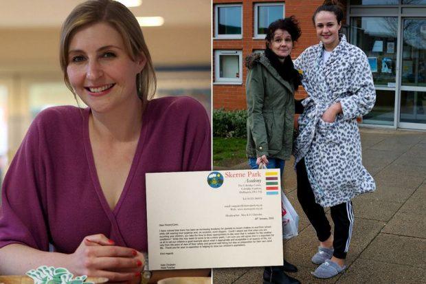 Kate Chisholm levelében arra kérte az anyákat, ne pizsamában vigyék a gyerekeiket reggel iskolába