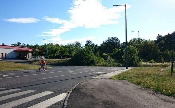 A tervezett viadukt Jutasi úti felhajtója