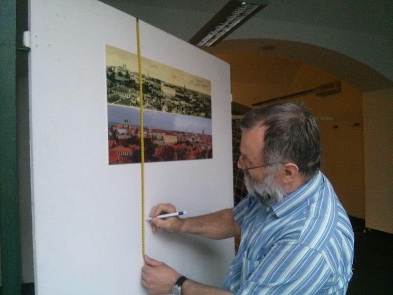 Lőrentei Tamás képei a régi Veszprémet mutatják meg, illetve ugyanazokat a helyszíneket ugyanonnan megörökítve napjainkban. Fotók: a szerző