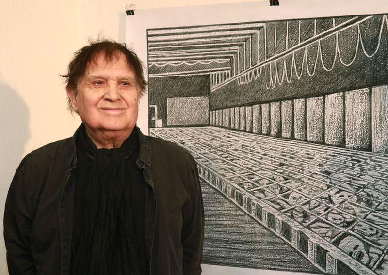 Benes József a kiállítás megnyitóján. Fotók: Nagy Lajos