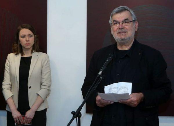 Haász István és Katarzyna Sítko a megnyitón