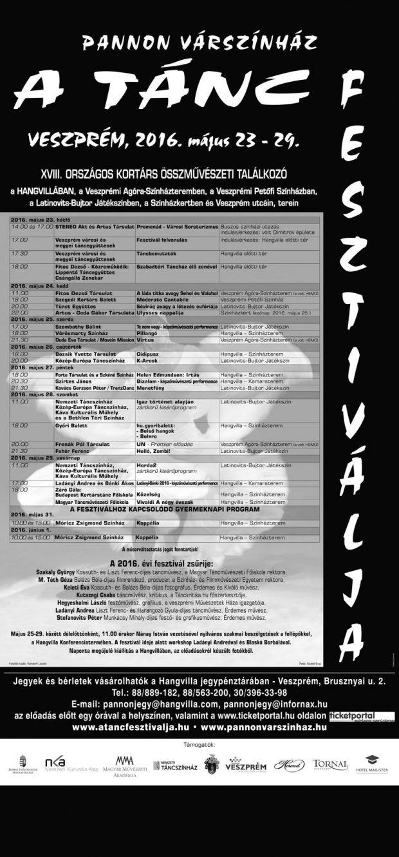 A Tánc Fesztiváljának programja