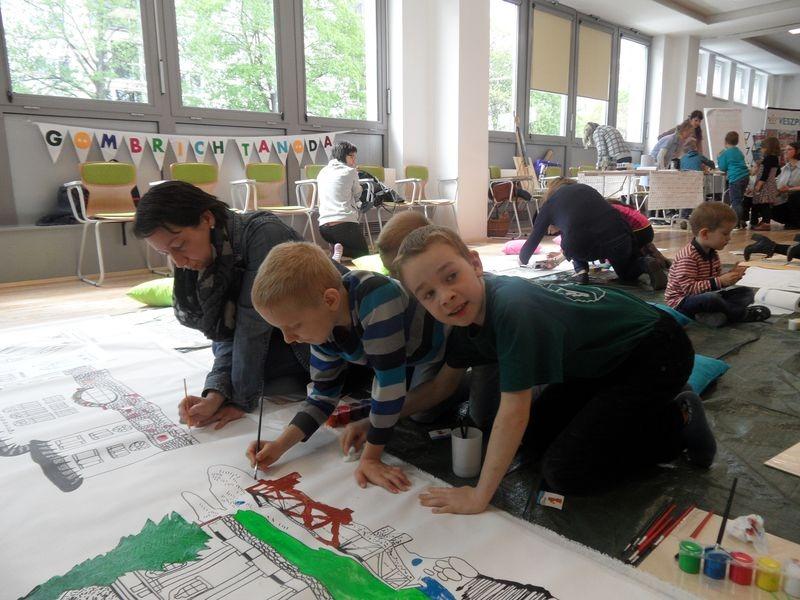 A gyerekek nagyon élvezték a festést. Fotók: Hajdu Franciska