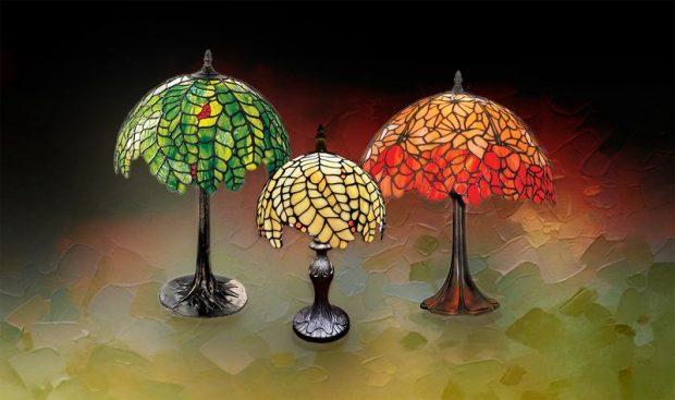 Julcsi Tiffany-stílusú lámpái