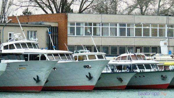 Hajók a Bahart Zrt. siófoki kikötőjében. Fotó: Győrffy Árpád