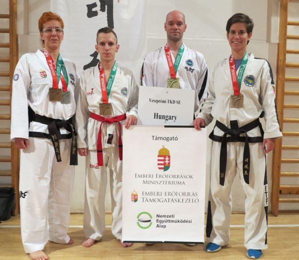 Balról jobbra:  Kosztyu Veronika, Palatin Zoltán, Kerekes Balázs, Mucsy Petra