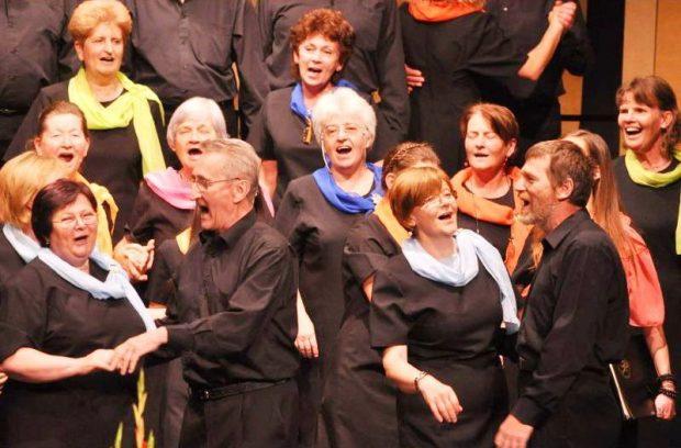Veszprém Város Vegyeskarának egyik családi koncertjén