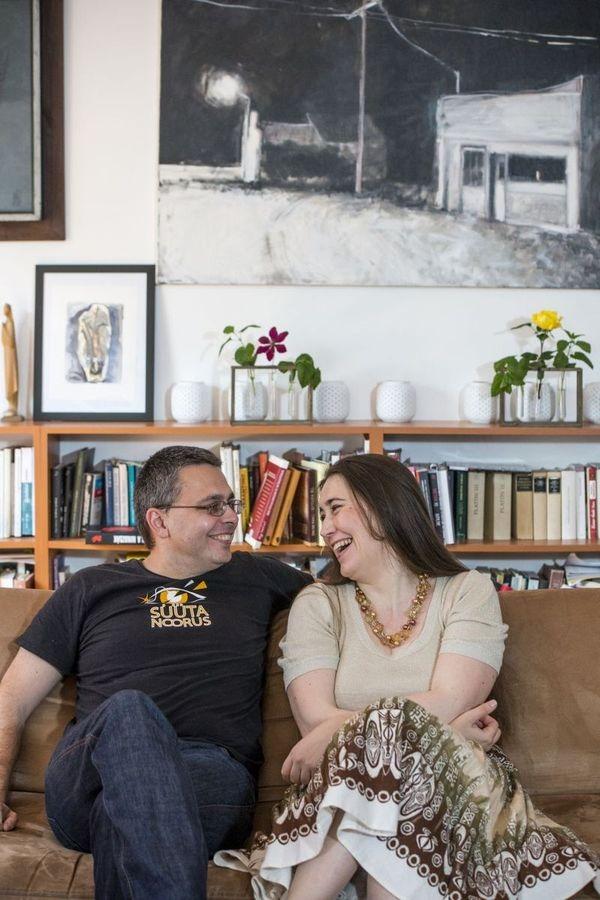 Dragomán György és Szabó T. Anna. Fotó: konyves.blog.hu/Valuska Gábor