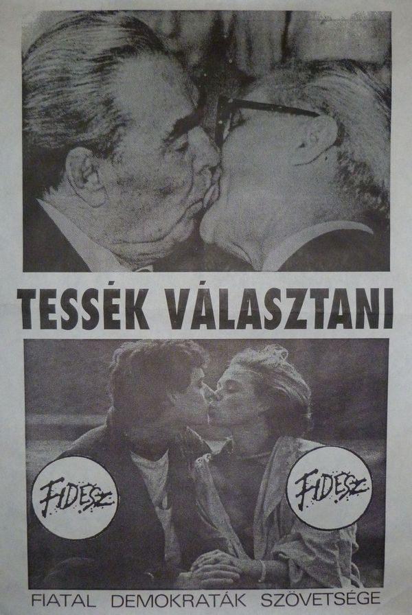 A Fidesz választási plakátja 1990-ből