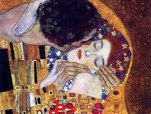 Gustav Klimt. A csók (részlet)