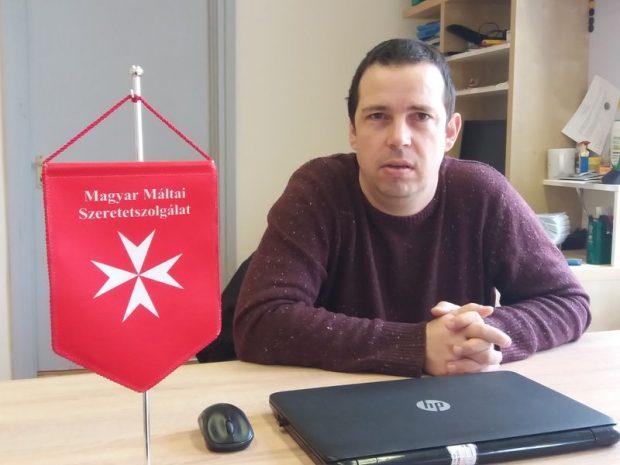 Szaller Péter, a Magyar Máltai Szeretetszolgálat Egyesület Befogadás Háza intézményvezetője
