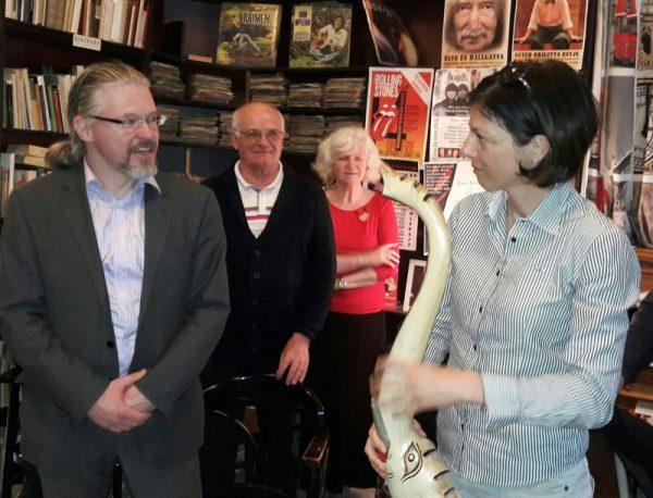 Dr. Ságodi László adta át a vándordíjat Sinkó Juditnak. Fotók: a szerző