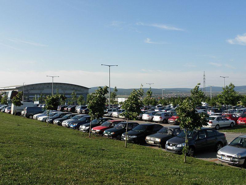 Nem történt bűncselekmény az aréna parkolójában. Fotó: wikipedia.hu