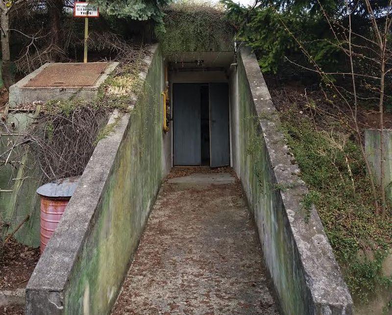 A csopaki légópince bejárata. Fotók: a szerző