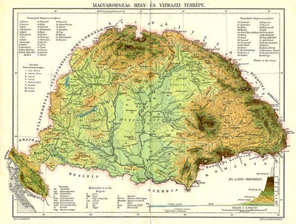 Ez a régi térkép csak illusztráció, az 1919 előtti Magyarországot ábrázolja. Forrás: wikipedia