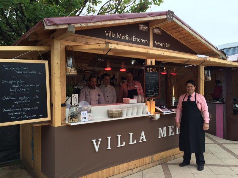 A Villa Medici csapata egy korábbi Gourmet Fesztiválon. Fotók: Villa Medici