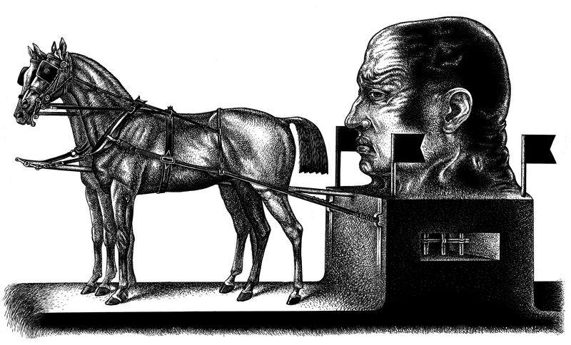 Szurcsik József Fogat című alkotása. Fotó: Művészetek Háza