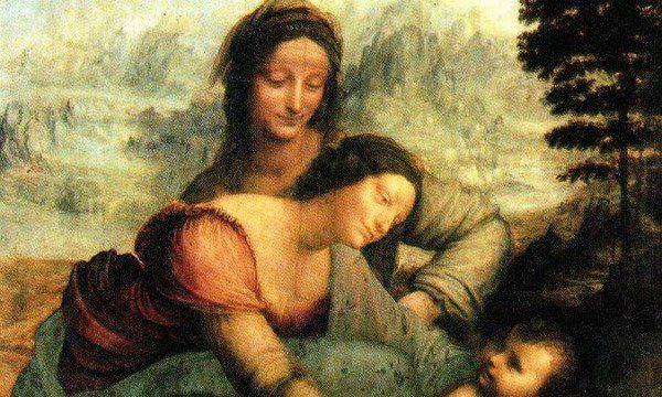 A Szent Anna harmadmagával című Leonardo da Vinci-festmény részlete