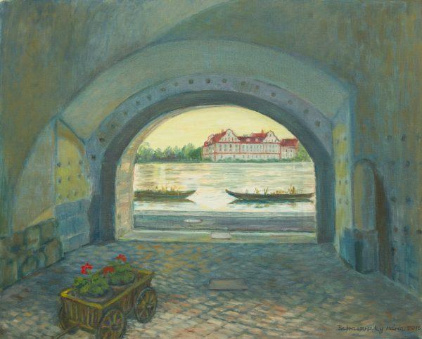 T. Petrasovszky Mária Az Inn Schaerdingnél című festménye