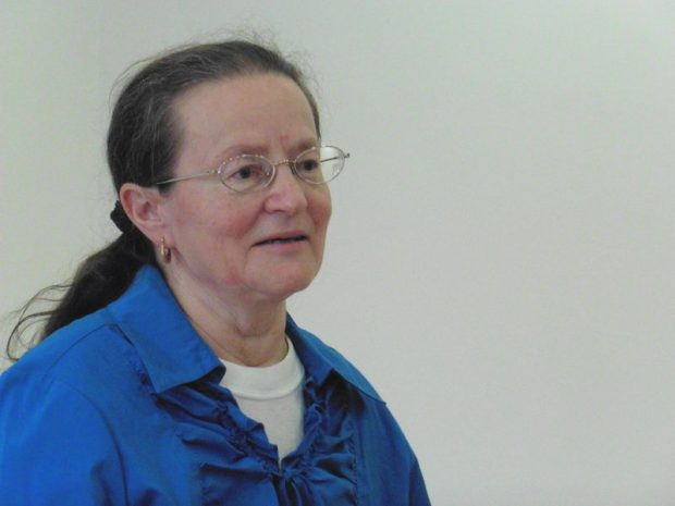 Berdálné Erzsike, aki elsőként vehette át a Molnár Margit-díjat