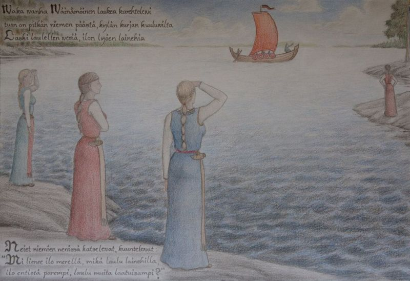 A kép illusztráció: Kalevala, Vejnemöjnen hajója