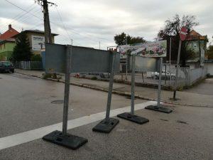 A Diófa utca lezárva