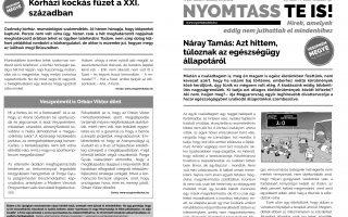NYOMTASSTEIS – Terjed a ragály