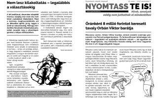 NYOMTASSTEIS – Óránként nyolcmillió