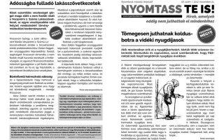 NYOMTASSTEIS –  Koldusboton a nyugdíjas