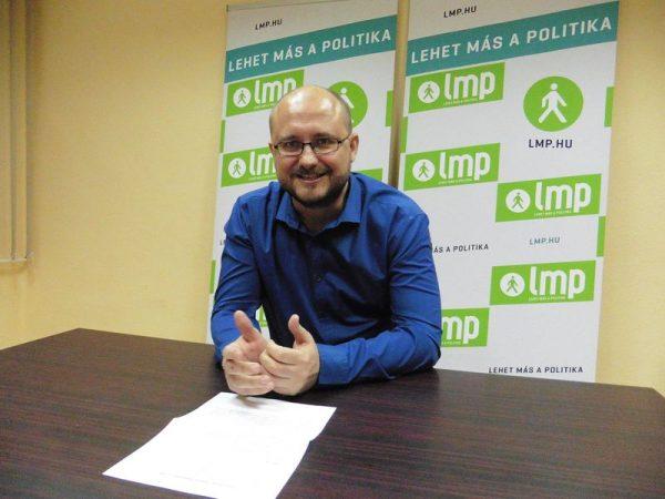 Ekkor még mint képviselőjelölt nyilatkozott nekünk Gerstmár Ferenc. Fotó: a szerző