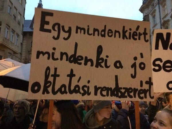A kép a januári diáktüntetésen készült. Fotó: Tóth Lili