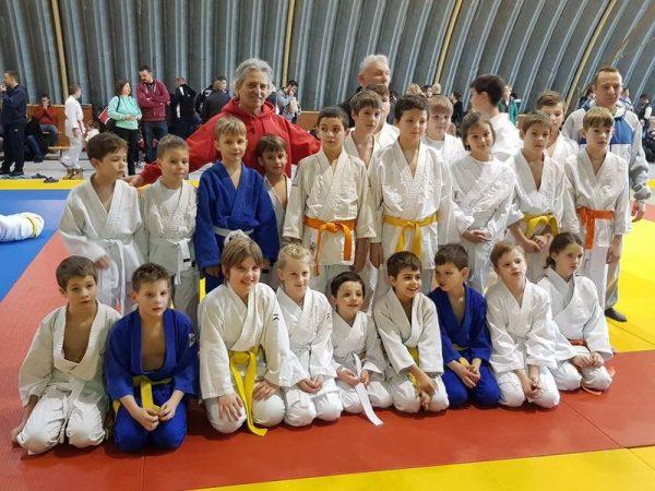 A veszprémi csapat  a nemesvámosi versenyen. Fotó: Veszprém Judo SE