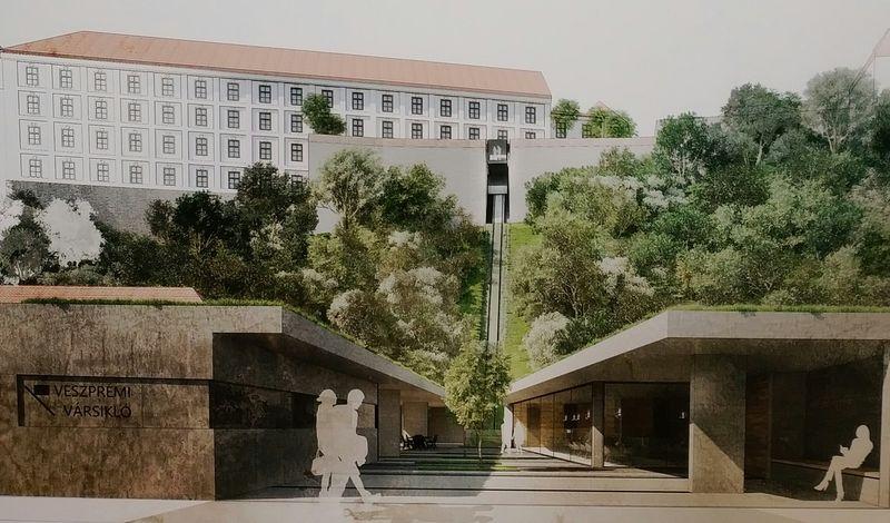 A várba vezető látványlift egyik lehetséges megoldása- Fotó: látványterv az ötletpályázat anyagából